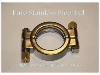 """High Pressure Clamp for Clamp union 1/2"""" to 8"""" 316s/s"""