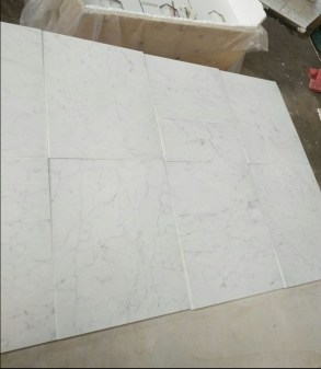 Bianco Carrara Marble Tiles Eurostone Houston