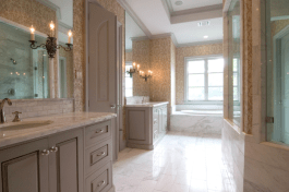 Custom Home Design Olympus White Marble Tiles Slabs Eurostone Houston
