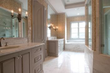 Custom Home Design Olympus White Marble Tiles Slabs Eurostone Houston