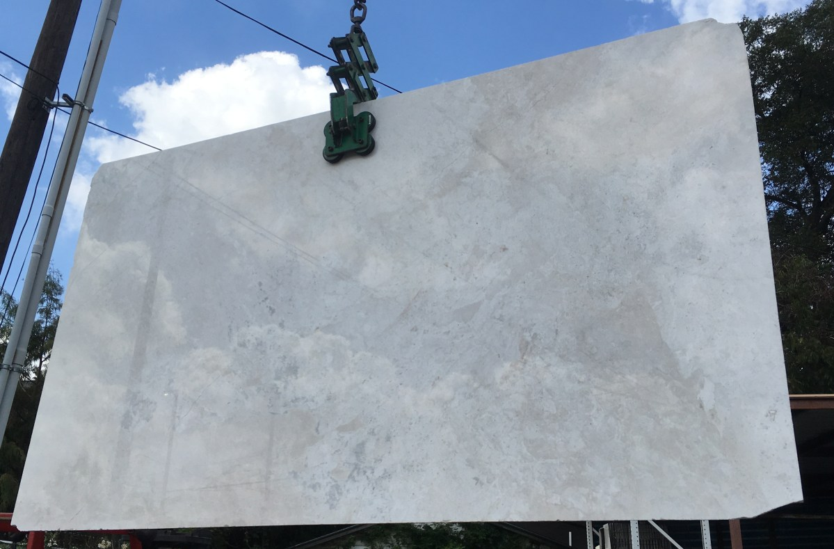 French Vanilla Marble Slab Eurostone Marble off-white semi-white Eurostone Houston