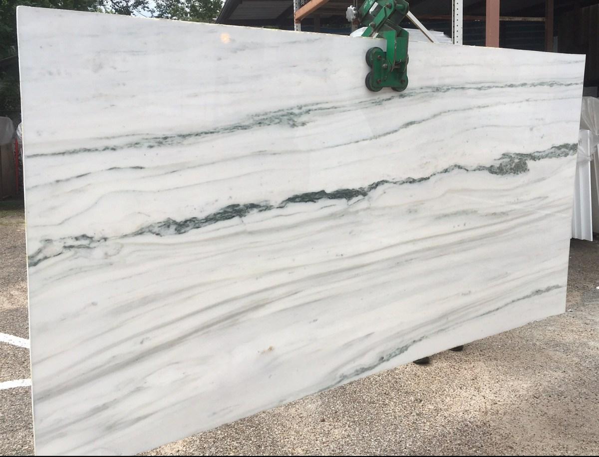 Dionysus White Marble Slab Veins Eurostone Houston