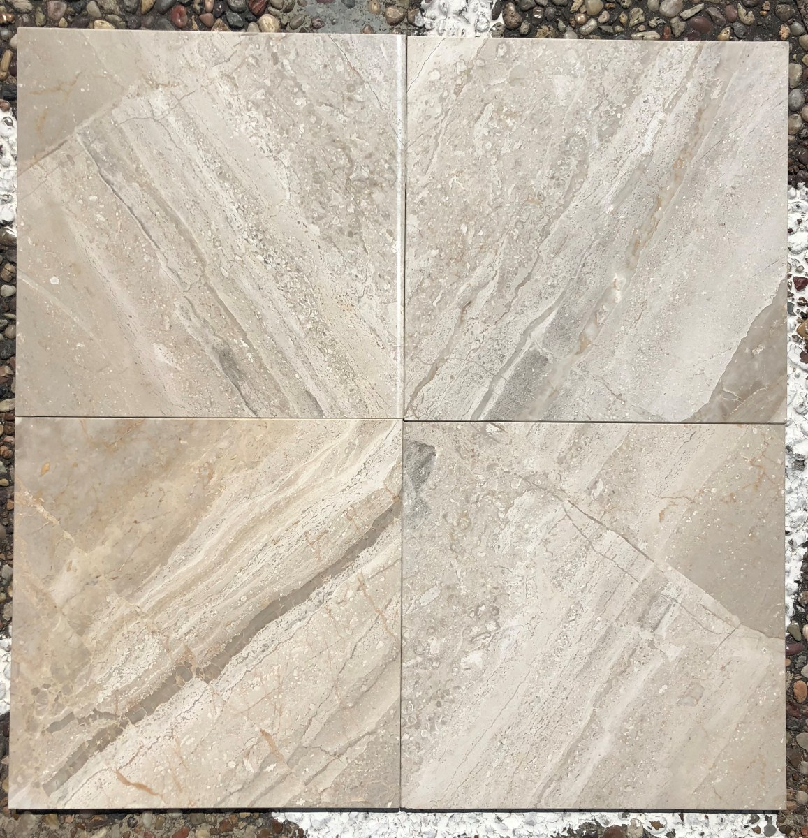"Karnez Special 12"" x 12"" Natural Marble Tile"