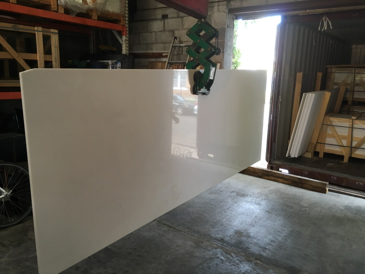 Thassos White natural Greek marble large slab Eurostone Houston