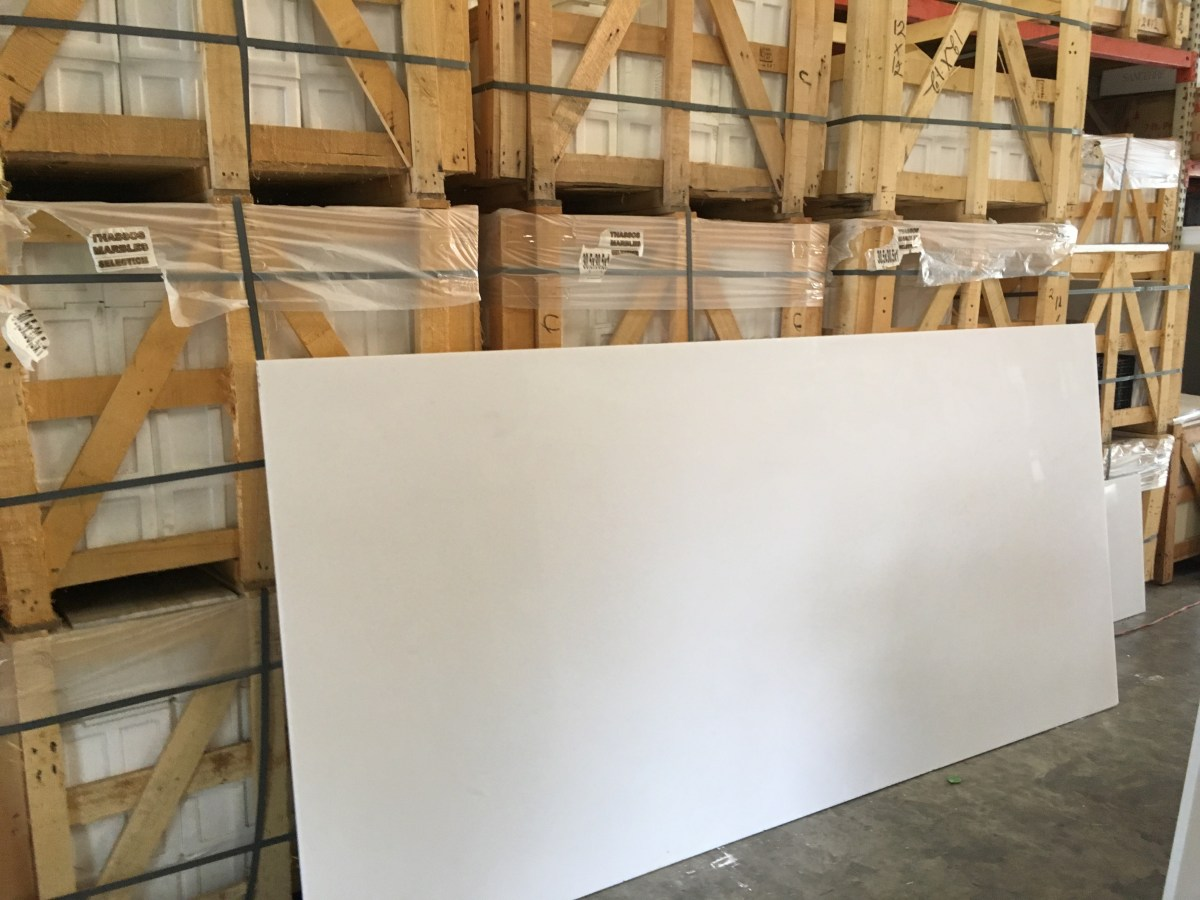 Thassos White natural Greek marble large slab Eurostone Houston