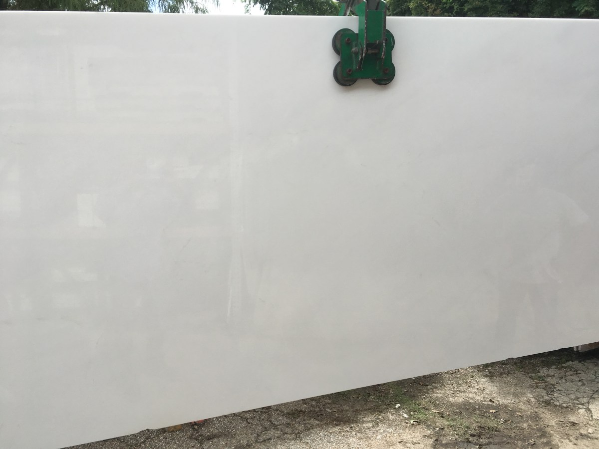 large Thassos White Natural Greek Marble Slab Eurostone Houston