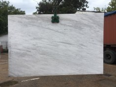 Olympus White natural Greek marble slab Eurostone Houston