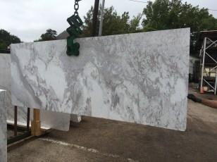 Volakas White Natural Greek Marble large slab Eurostone Houston