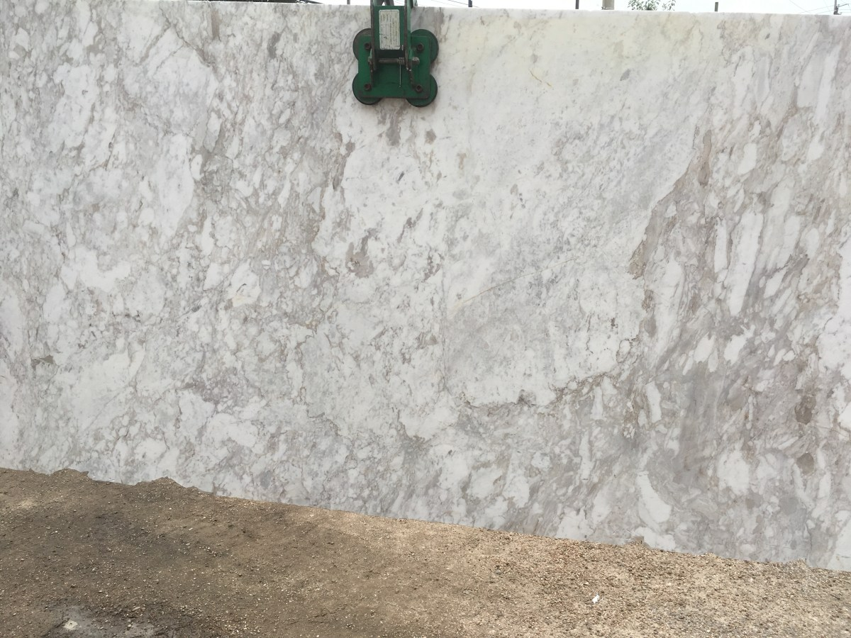 Arabesque White Natural Marble Slab Greek Eurostone Houston