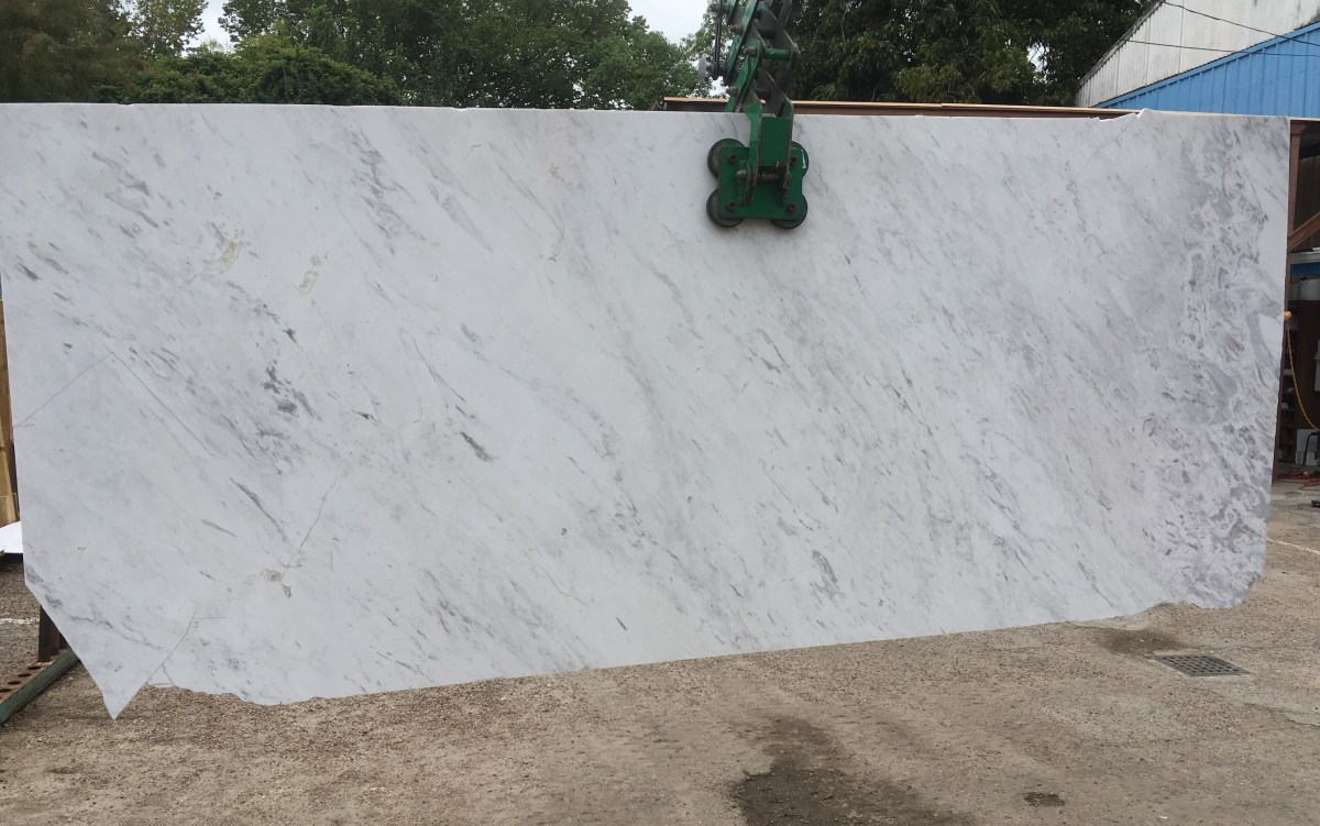 Olympus White Natural Greek Marble Slab Large Eurostone Houston