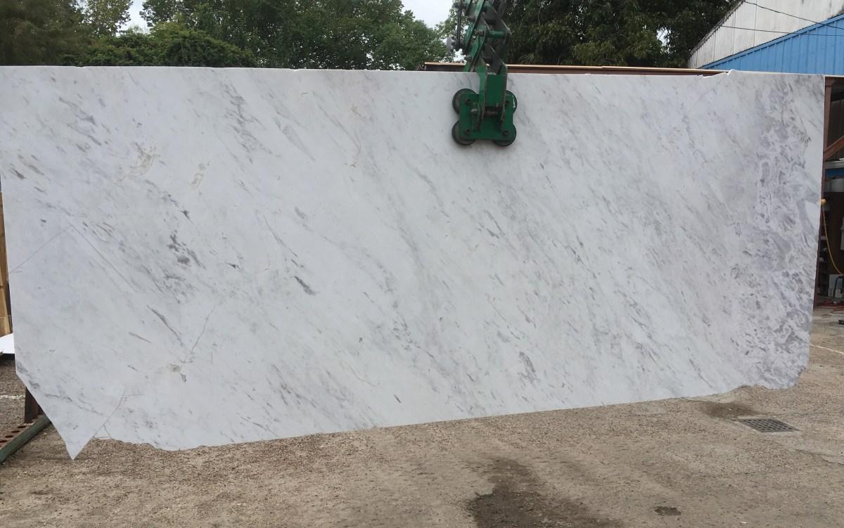 Olympus White Natural Greek Marble Slab Large Eurostone Houston