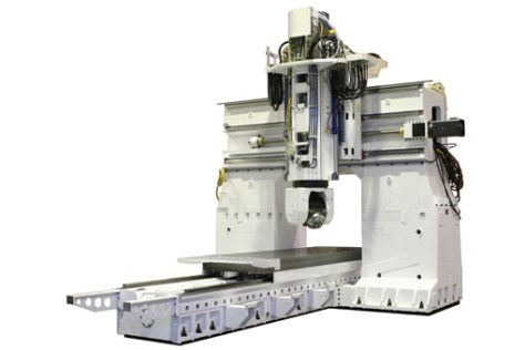 The vertical milling gantry centers of the KK family are the largest of the range of the manufacturer, a car's engine can be fully placed into its machining area.