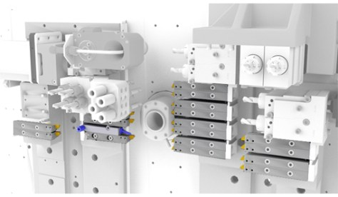 The tool mounting system means that the overall dimensions of the tools are greatly reduced; the number of tool positions can therefore be significantly increased thereby increasing the machining capacities of the ST26. Modu-Line tool holders can be fitted on the two plattens in operation and in counter-operation.
