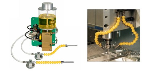 Cavity milling with HSC-technology, 2-nozzles Unilube MicroLubricationSystem.