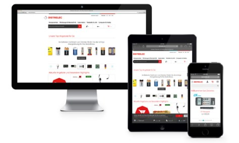 Thanks to the responsive design, the new Distrelec webshop provides an attractive shopping experience on all end user devices.