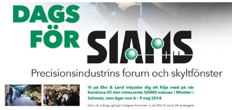 "Ehn&Land from Sweden activelly communicates for Siams and organise a ""common trip"" for customers from Sweden."