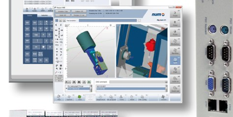 The latest release of NUM's Flexium+ 3D simulation software includes algorithms for the RTCP function to support advanced 5-axis machining applications.