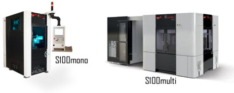 In the case of realisation of larger series of parts or parts that require many operations, the s100multi combines four workstations identical to the s100mono version in a compact transfer centre.