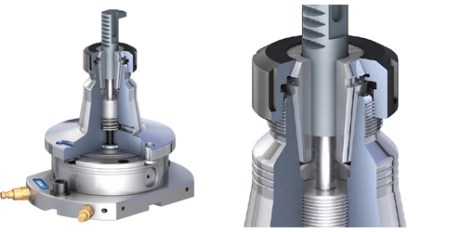 The Schunk Vero-S SEZ collet chuck module was particularly designed for machining small components with a cylindrical shaft. It offers a high degree of flexibility.