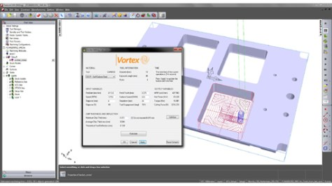 FeatureCAM 2015 R2 includes the Vortex milling calculator to help users obtain the maximum benefit from the high-efficiency area-clearance strategy.