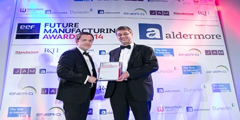 600 UK - National Runner-up, Business Efficiency Award (L-R) Mike Williams from headline sponsor, Aldermore, and Mike Berry, Managing Director of 600 UK