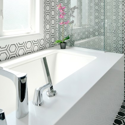 Mosaic Hexagon Marble Floor and Wall