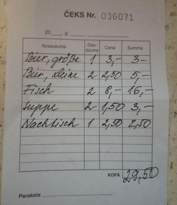 Lettisches Preisniveau - knapp unter dem Deutschen