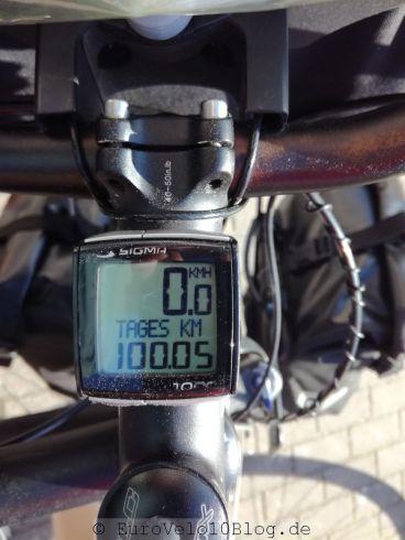 Am Ende war es ein langer Tag mit 100km....