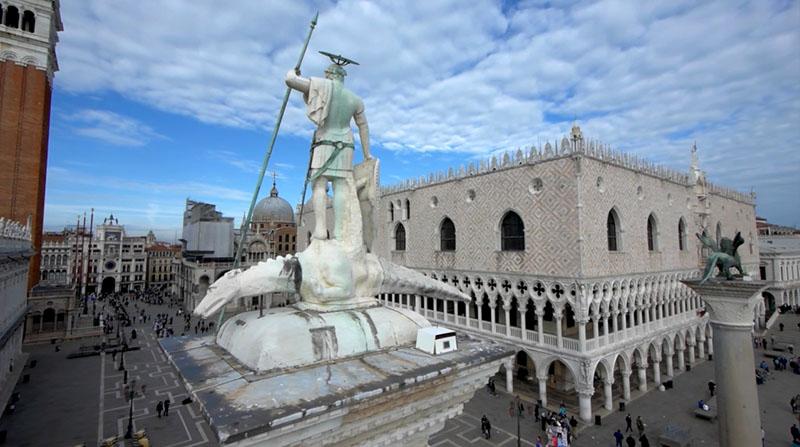 Columnas de San Marcos y San Teodoro en Venecia