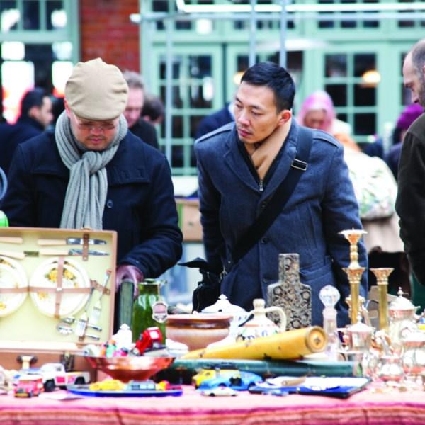 Mercadillo de antigüedades Alfies de Londres