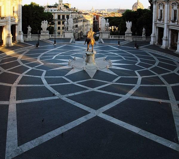 Plaza del Capitolio en Roma
