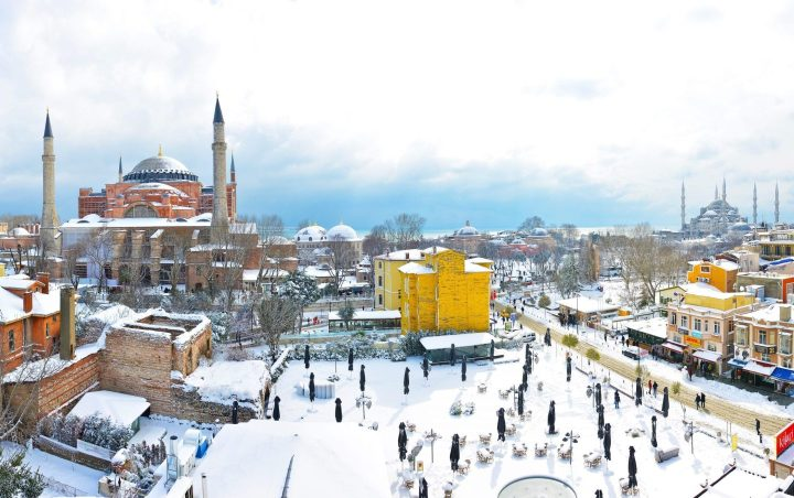 Nieve en Estambul