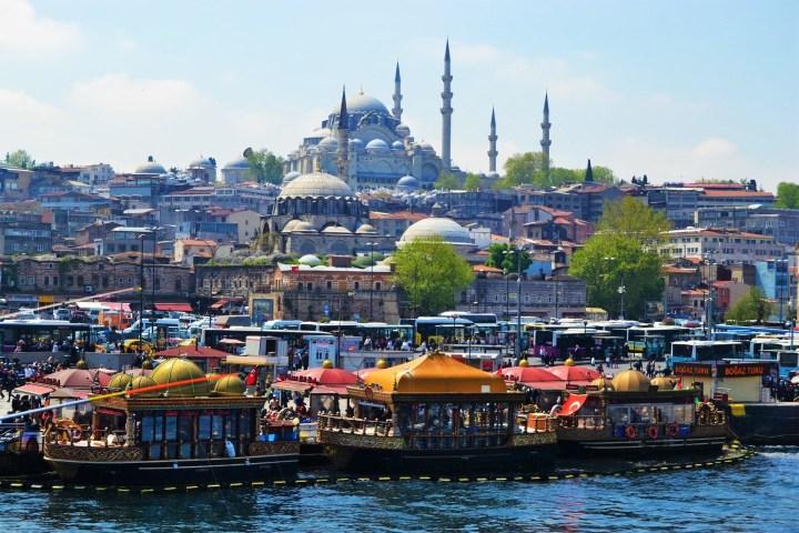 Paisaje de ensueño de Estambul