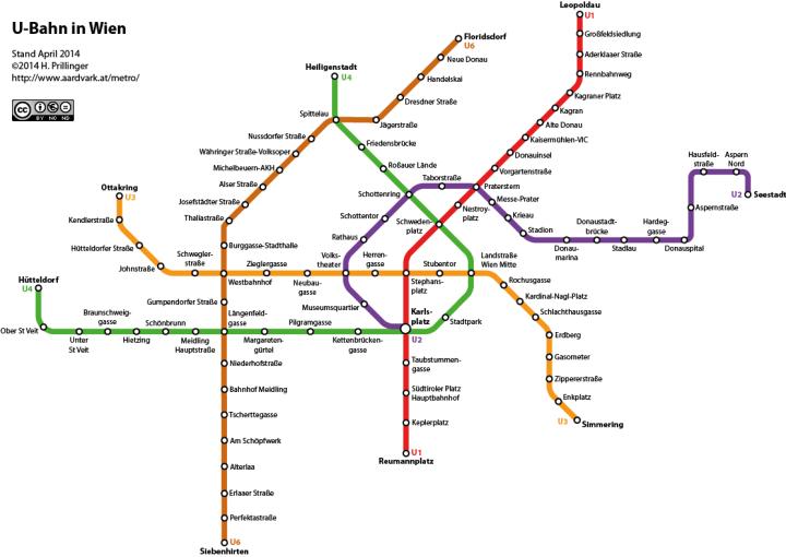 Mapa del Metro de Viena