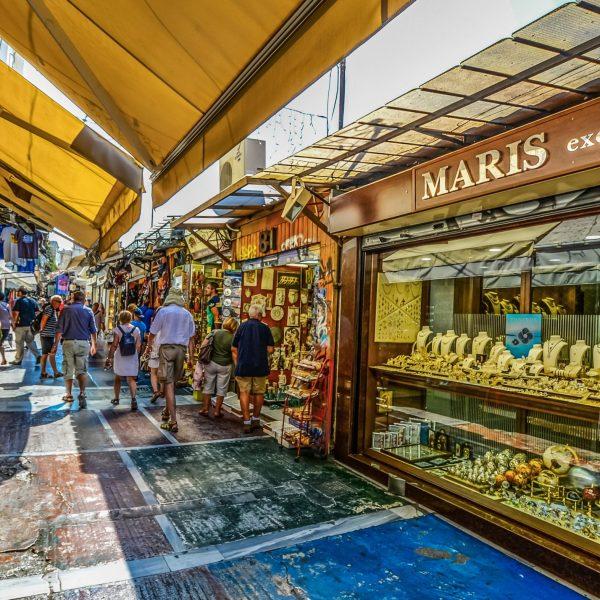 Compras en Atenas