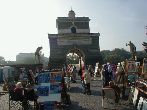 Mercadillo de Ponte Milvio, Roma