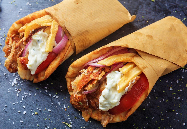Comida callejera en Atenas