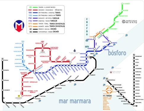 Mapa del Metro de Estambul