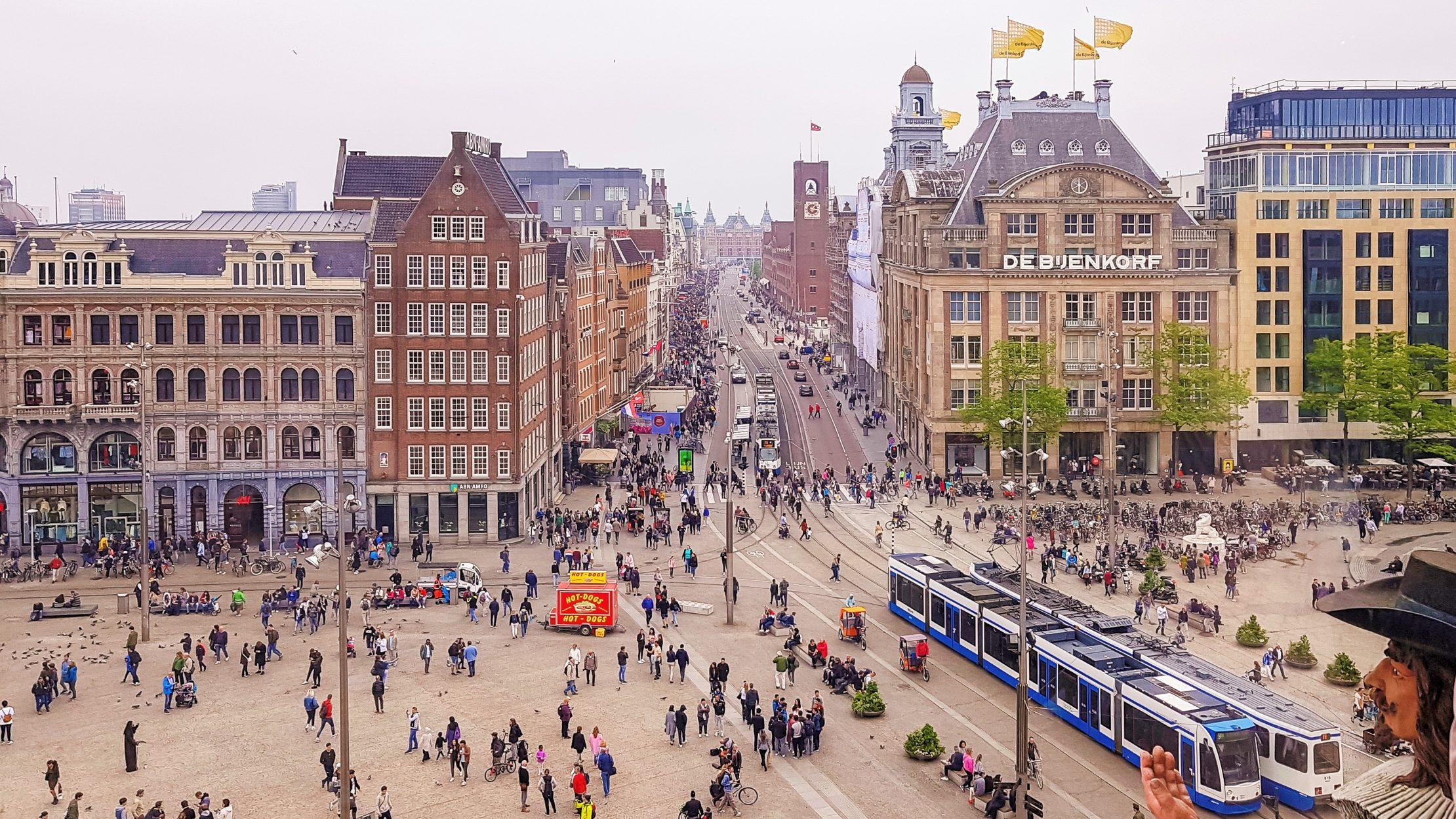 Plaza Dam en Ámsterdam