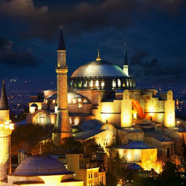 Salir por Estambul - Hagia Sophia - noche