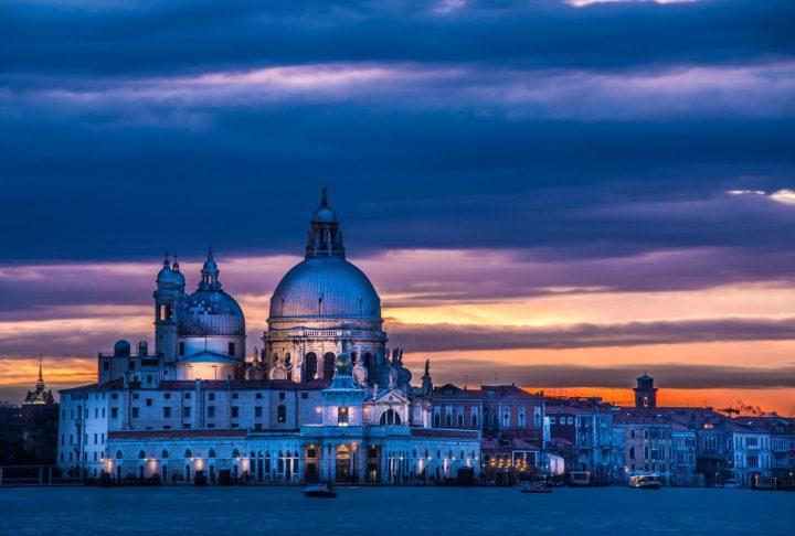 Vista de Venecia durante el Invierno