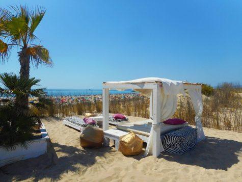 A beautiful bar on Praia de São João da Caparica beach - one of the best beaches near Lisbon