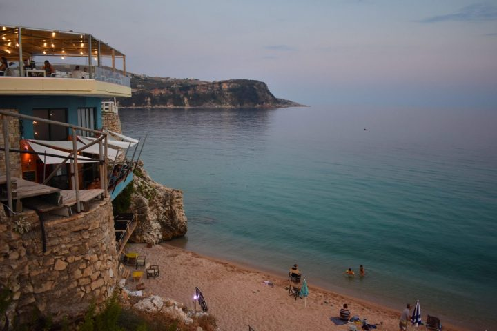 Beach bars in Himara, Albania