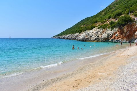 Crystal waters of Gjipe beach, Albania
