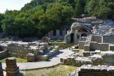 Hellenic ruins of ancient city of Butrint, Albania