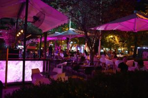 Lively nightlife in Tirana, Albania