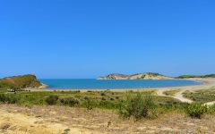 One of the empty beaches in Narta Lagoon
