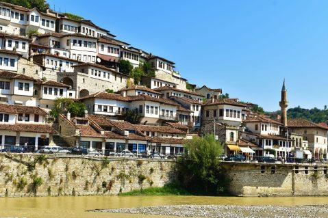 Ottoman houses in Berati, Albania