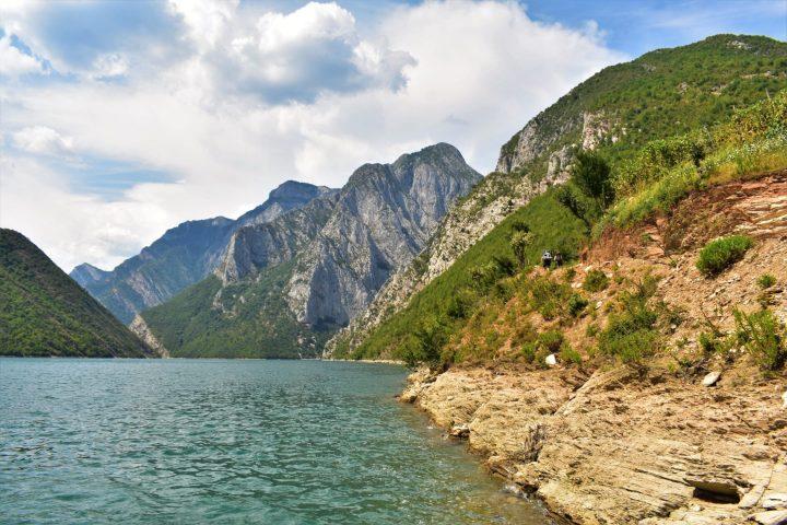 Trekking around Lake Komani in the Albanian Alps, Albania