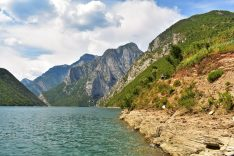 Trekking around Lake Komani in the Albanian Alps, Albania